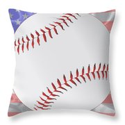 Silk Stars And Stripes Baseball Throw Pillow