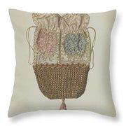 Silk-straw Reticule Throw Pillow