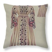 Silk Taffeta Costume Throw Pillow