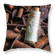 Silk Thread Spools Throw Pillow