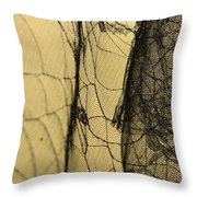 Silk Web Throw Pillow