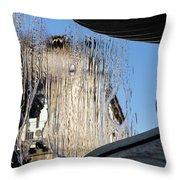 Silken Fountain Curtain -  Throw Pillow