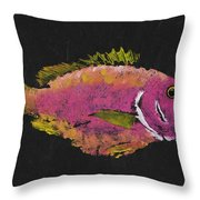 Silky Snapper Throw Pillow