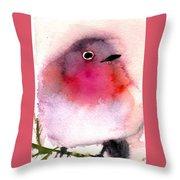 Silly Bird #6 Throw Pillow
