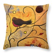 Silly Bird Throw Pillow