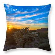 Silly Sunset Throw Pillow