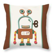Silly Wind-up Toy Throw Pillow