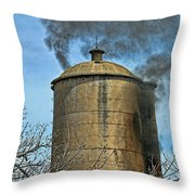 Silo Fire Venting Throw Pillow