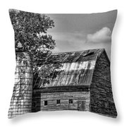Silo Tree Black And White Throw Pillow