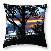 Silohuettes Of Trees Throw Pillow