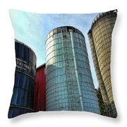Silos Throw Pillow by Paul Ward