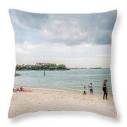 Siloso Beach Throw Pillow