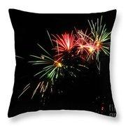 Silute 500. Lithuania. Fireworks 01 Throw Pillow