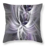 Silver Abstract Ascension. Mystery Of Colors Throw Pillow