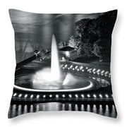 Silver And Black Throw Pillow