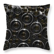 Silver And Gold Collage Throw Pillow