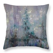 Silver And Silent Throw Pillow