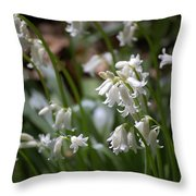 Silver Bells Throw Pillow