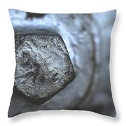Silver Bolt Throw Pillow