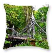 Silver Bridge 004 Throw Pillow