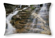 Silver Cascades - Crawford Notch New Hampshire Throw Pillow