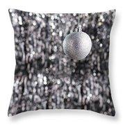 Silver Christmas Throw Pillow