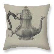 Silver Coffee Pot Throw Pillow