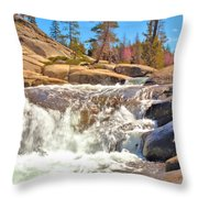Silver Creek Rapid Throw Pillow