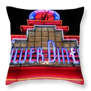 Silver Diner Throw Pillow