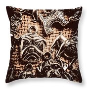 Silver Dog Show Throw Pillow