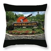 Silver Dollar City Sign Throw Pillow