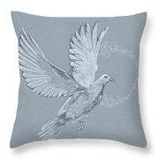 Silver Dove Throw Pillow