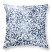 Silver Filigree Throw Pillow