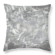 Silver Gray Abstract Minimalist Painting  Throw Pillow
