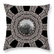 Silver Idyl Throw Pillow