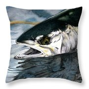 Silver In The Salt Throw Pillow