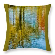 Silver Lake Autum Tree Reflections Throw Pillow