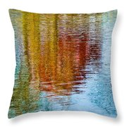 Silver Lake Autumn Reflections Throw Pillow