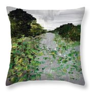 Silver Lake Norfolk Botanical Garden 2018-17 Throw Pillow