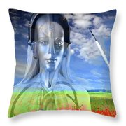 Silver Machine Throw Pillow