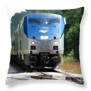 Silver Meteor Throw Pillow