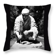 Silver-monk Throw Pillow