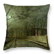 Silver Moonlight Throw Pillow