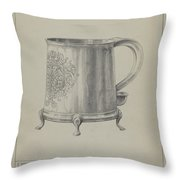 Silver Mug Throw Pillow