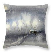 Silver Night Throw Pillow