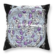 Silver On Stained Glass Throw Pillow