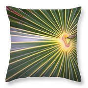 Silver Palm  Throw Pillow
