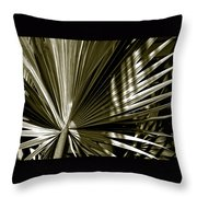 Silver Palm Throw Pillow
