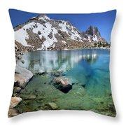 Silver Pass Tarn - Johm Muir Trail Throw Pillow