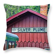 Silver Plume Station Throw Pillow